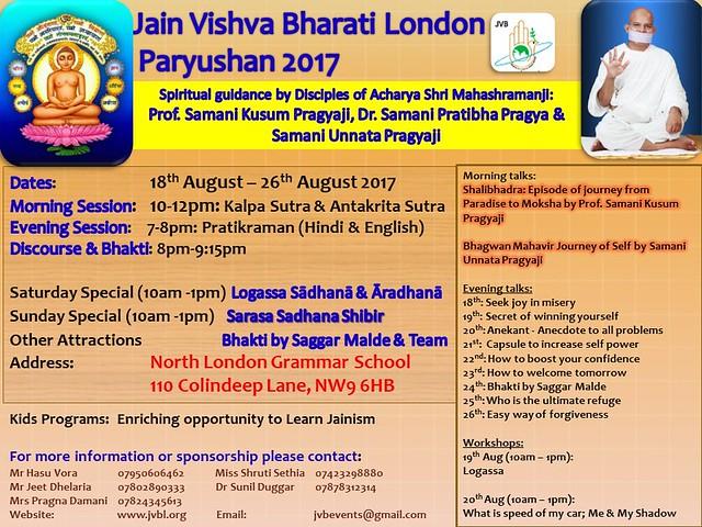 2017.08.18 JVB London Paryushan Programme at North London