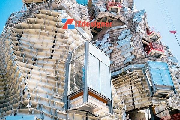Tòa tháp hình ngọn núi của Frank Gehry tại Pháp