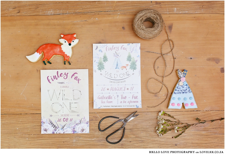 Fox Birthday party invitation by Fox Tales
