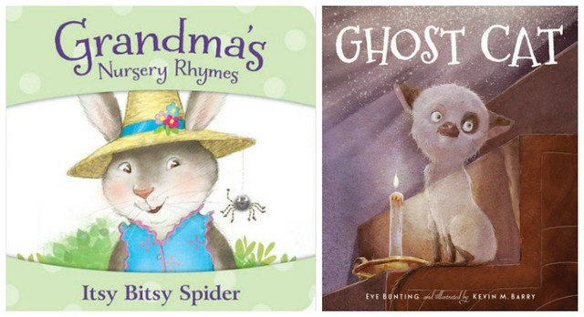 Grandma's Nursery Rhymes Itsy Bitsy Spider and Ghost Cat covers