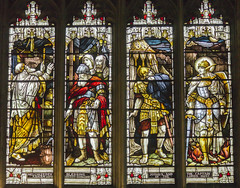 Warwick, St Mary's church, Window detail