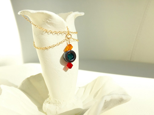 Crystal Hematite necklace by artist Vanessa Pineda Fox