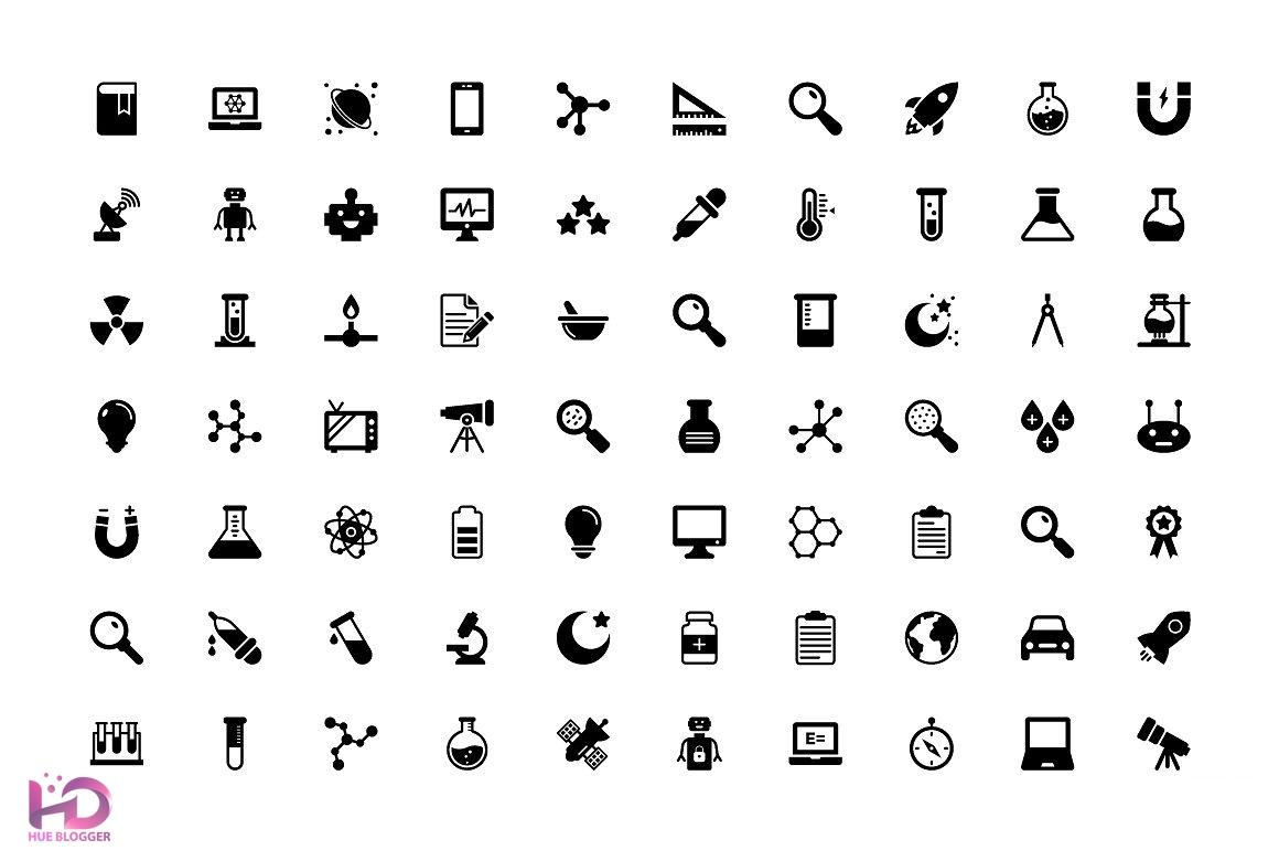 350+ icon công nghệ và khoa học dành cho designer