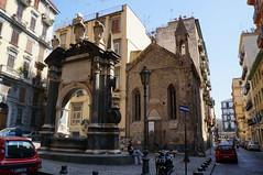 piazza dellarchivio storico e fontana della Sellaria