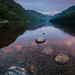 Sunrise at Glendalough Upper Lake #2, County Wicklow, Ireland.