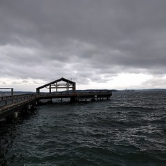 #gray #grey & #moregray ... welcome back, it was such a long, dry, hot summer. #rain #clouds #PNW #skymeetswater #watermeetssky #waterfront #dock #pier #porttownsend