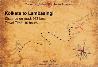 Map from Kolkata to Lambasingi