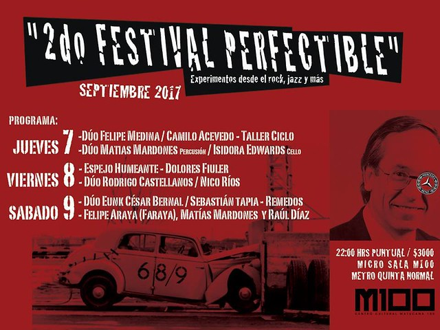 2° Festival Perfectible experimentos desde el rock, jazz y más 2017 M100