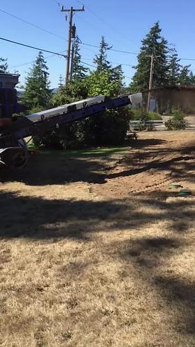 Spraying Topsoil