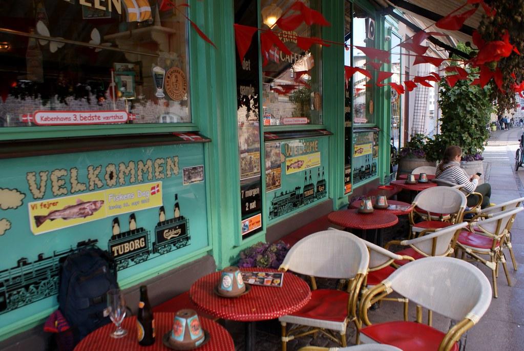 Jernbanecafeen, bar pittoresque à Vesterbro à la sortie de la gare centrale.