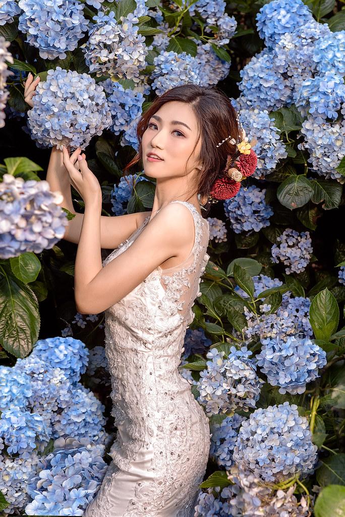 [婚紗寫真]陽明山繡球花
