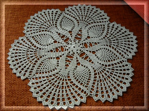 crochet, doily, ananas (2)