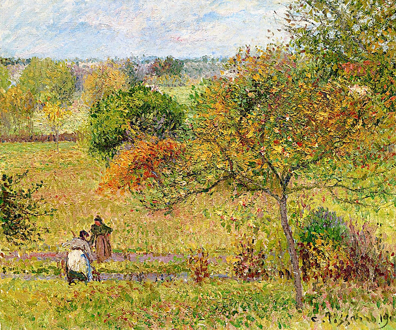 Autumn in Eragny by Camille Pissarro, 1900