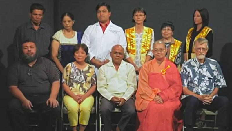 Sejumlah tokoh perwakilan lintas agama di Guam dalam cuplikan video ajakan doa bersama.