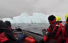 Iceberg seen from a Zodiac.  Wilhemina Bay, Antarctical. 2/2016.