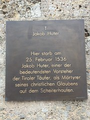 Photo of Jacob Huter slate plaque