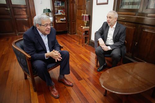 Manuel Santiago Godoy reunido con Jose Pages Presidente de la fundación del Banco Itaú