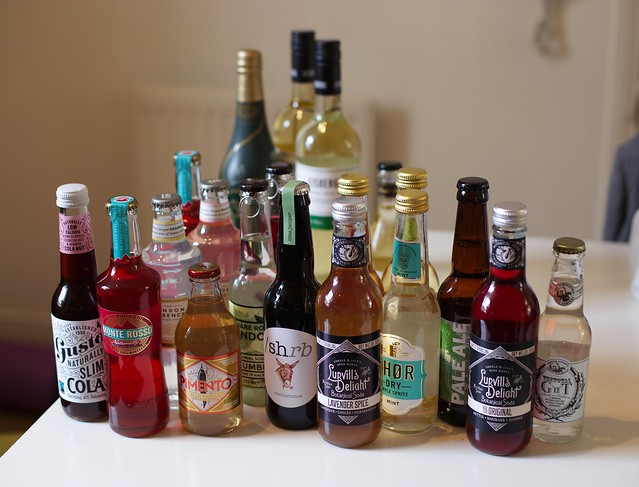 An interesting selection of non-alcoholic drinks from the Mindful Drinking Festival