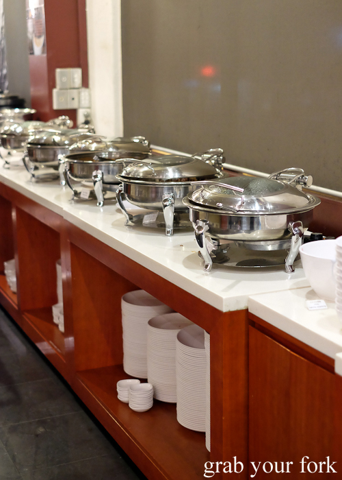 Cooked food station at Yass Korean BBQ Buffet in Strathfield Sydney