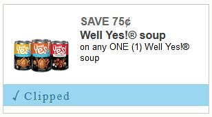 Deal on Well Yes! Soup