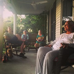 Porch-sittin with the girls (and Christian). In this picture: moonshine, whiskey, wine, vodka. To think this town was dry a year ago. #myoldkentuckyhome, #thisiswhoimgonnabe