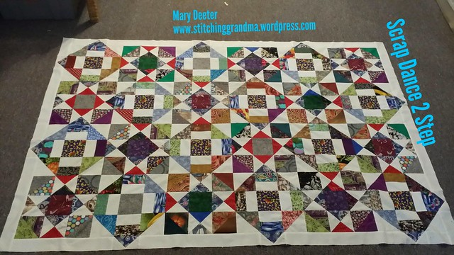 1st border on Scrap Dance 2 Step