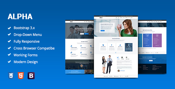 Alpha v1.0 – Business Consulting and Financial Services HTML Template