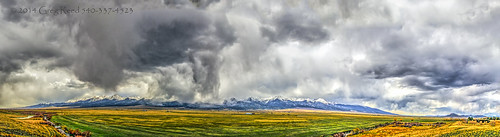 westcliffe colorado rockies rockymountains mountain mountains snow virga downburst cloud clouds panorama hdr