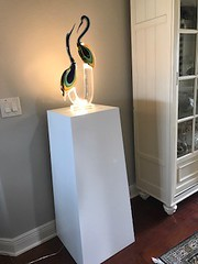 White Laminate Tapered Pedestal