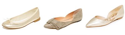 Shopbop Metallic Flats