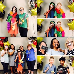 Photo booth shenanigans at our #ci3t kickoff day! I can't wait for tomorrow's pics. #schoolfam We set up in Mr Klankey's 'extra' room and Mr. Walleck saved the (fluorescent) lighting crisis bringing up two awesome lights used for BEARTV. I am inspired by