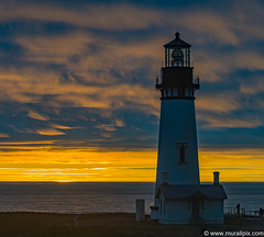 Yaquina Head Lighthouse @ Sunset
