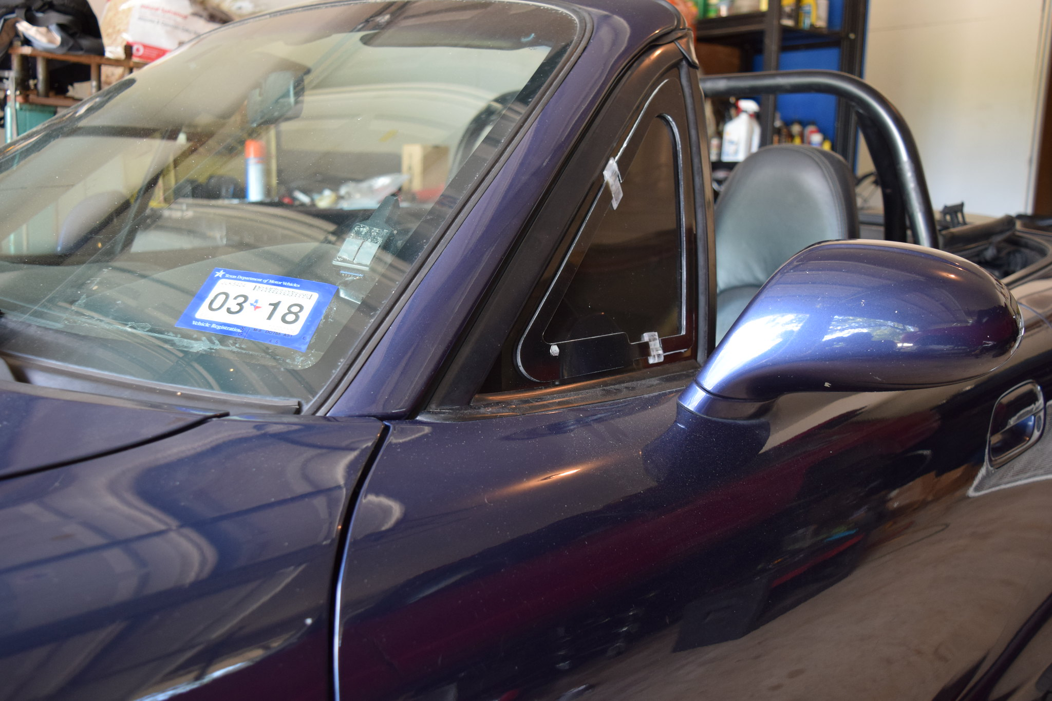 Mazda MX-5 Miata Left Side Door Quarter Vent Window Glass /& Rubber Seal 90-05