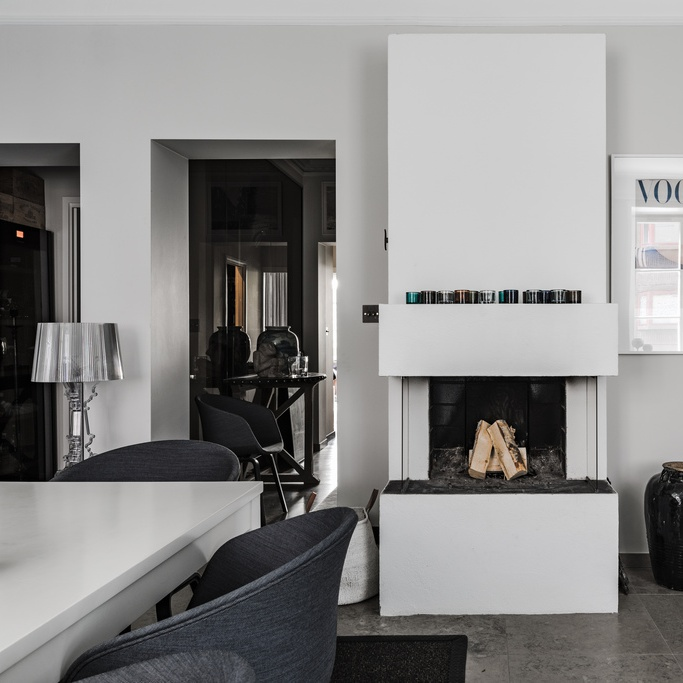 Modern Classy Scandinavian Home with Dark and Cozy Mood
