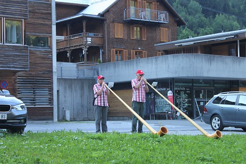 people playing on alphorn