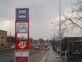 Bus Stop in Prague, Czech Republic