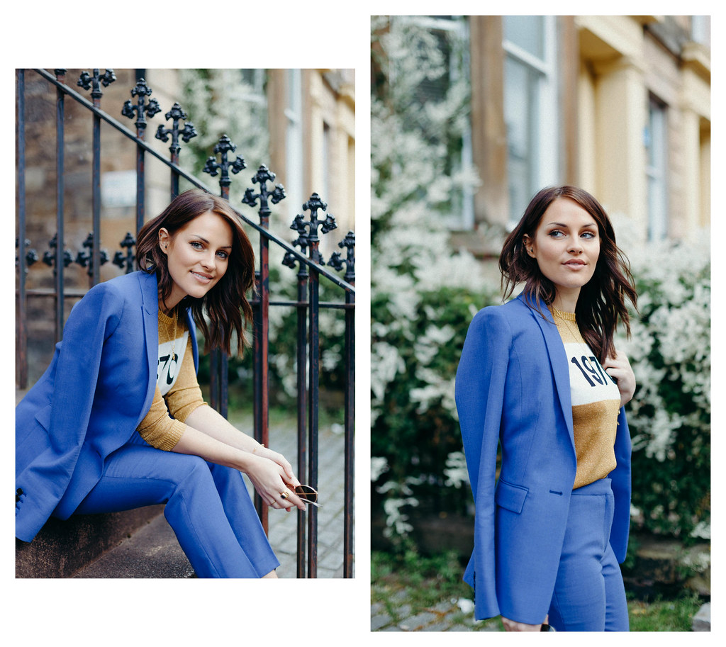The Little Magpie Reiss blue two piece suit