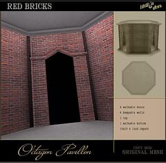 Lilith's Den - Octagon Pedestrial Pavillon red