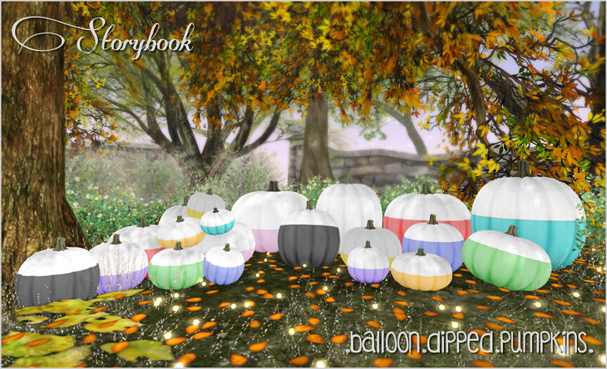 :Storybook: balloon dipped pumpkins [ phatpack ]