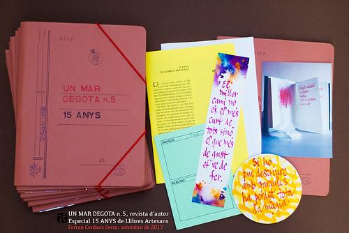 Un mar degota n.5, revista d'autor dedicada als 15 anys de LLibres Artesans