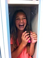 Stuffed in a locker!
