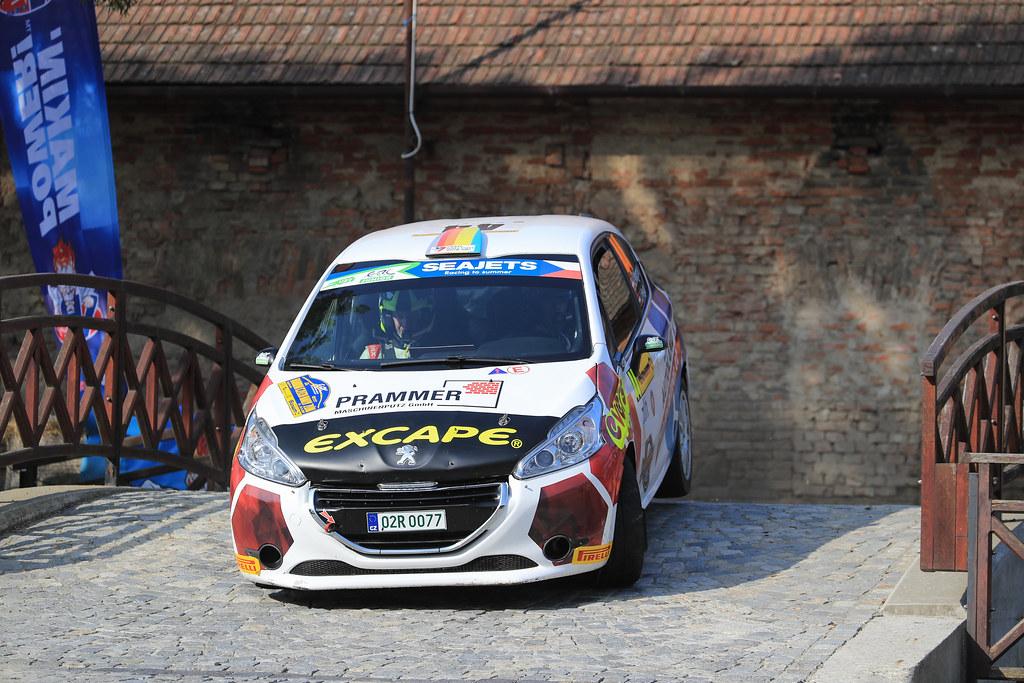 44 WAGNER Julian (AUT) HEILG Jurgen (AUT) Peugeot 208 R2 action during the 2017 European Rally Championship ERC Barum rally,  from August 25 to 27, at Zlin, Czech Republic - Photo Jorge Cunha / DPPI