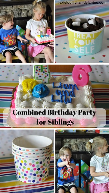 A Combined Gender Neutral Birthday Party for Siblings