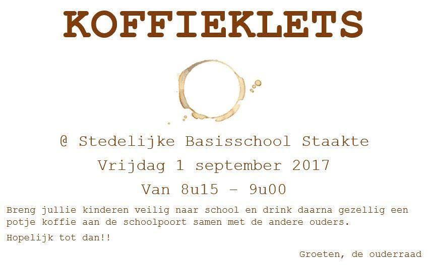 Koffieklets - 1 September 2017