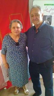 Elvira Pugliese con Giuseppe Conte