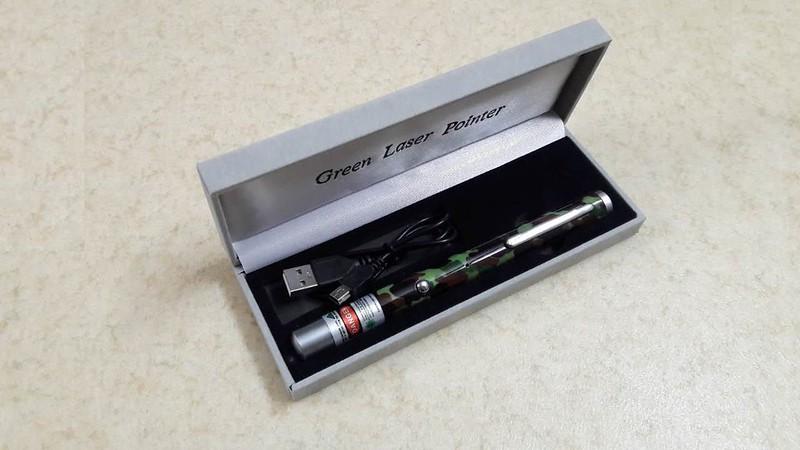 Bút laser sạc USB 5 màu giá rẻ - 8