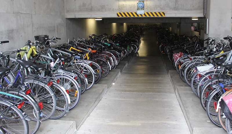 Bicycle parking at Brugge station, Belgium