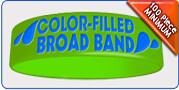 Color Filled Silicone Wristbands | Custom Bracelet - Wristband Connection