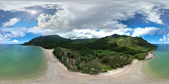 Kahana Bay - an aerial 360° equirectangular VR from my DJI Spark minidrone 150 feet up