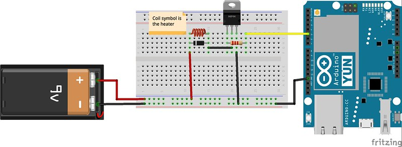 Arduino with TIP120 High Power Control